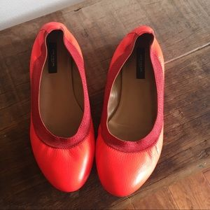 Ann Taylor flats 8 1/2 bright neon coral